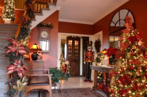 Inn Lobby at Christmas