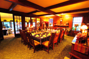 Main Dining Room set for a group of ten at Annville Inn for a business meeting