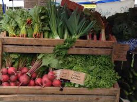 vegetables at a farmer's market