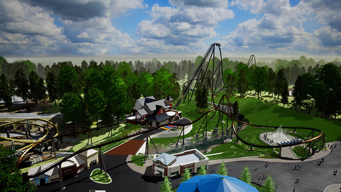 artist's conception of new roller coaster at Hersheypark
