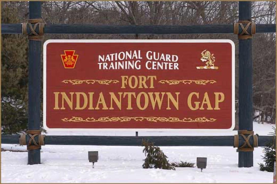 sign entering Ft. Indiantown Gap