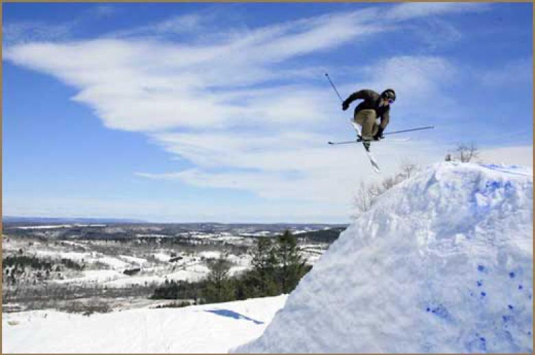 Snow Skiier in Gettysburg, PA