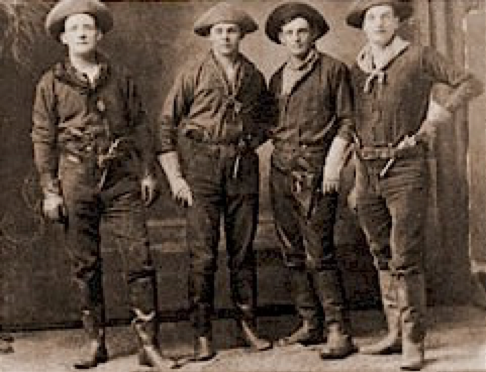 Group of four early outlaws