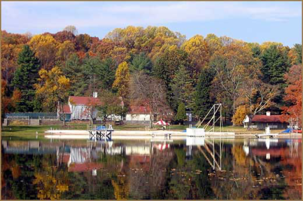 Fall Scene at Mt. Gretna Lake