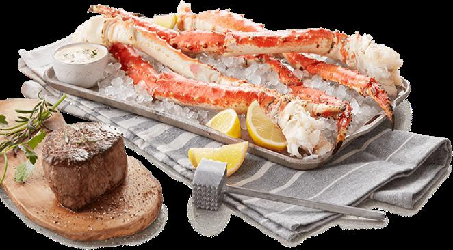 Crab Legs and Prime Rib