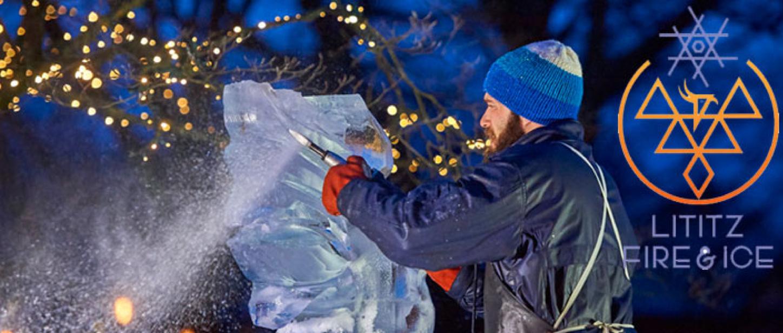 ice carver artist at work