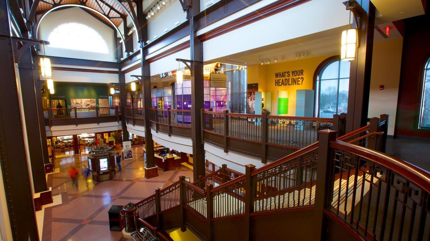Inside Hershey Story Museum from 2nd floor balcony
