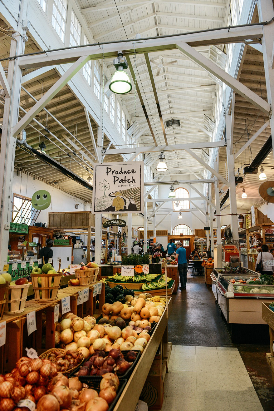 Inside Broadstreet Market, Harrisburg. Vegetables.