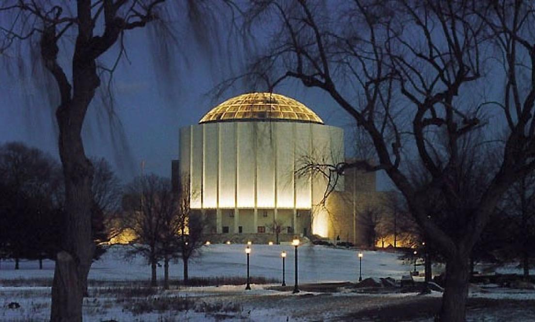 Milton Hershey School Auditorium at Night