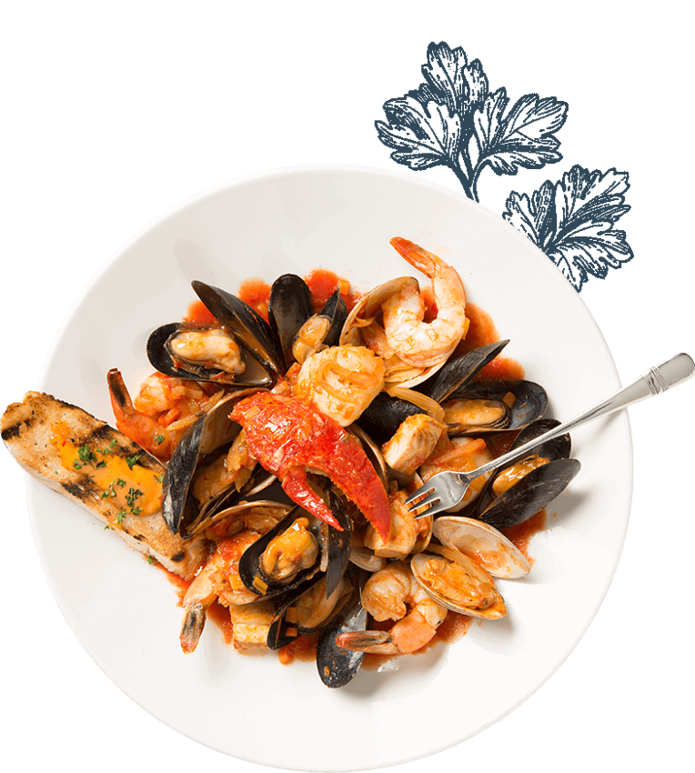 Mixed seafood plate