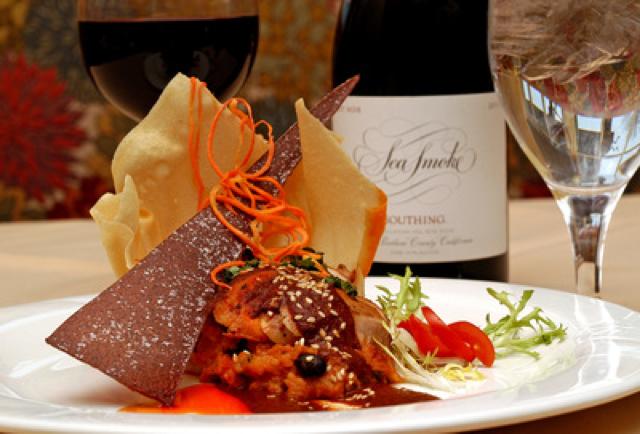 Fancy Italian Dish with Wine