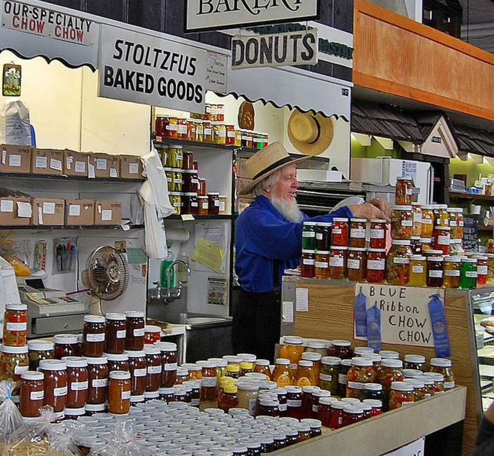Baked Goods stand at Farmer's Market