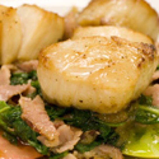 Seared Scallop dish, close up