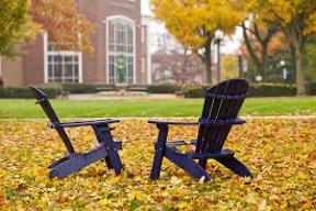 "chairs on college campus ""quad"""