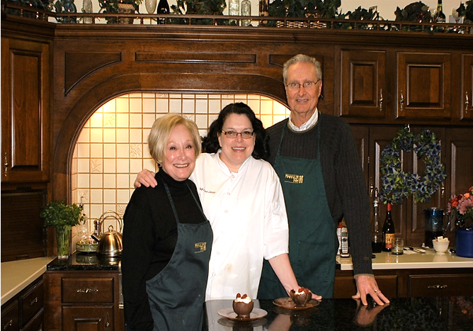 Chef with two students in Annville In Kitchen