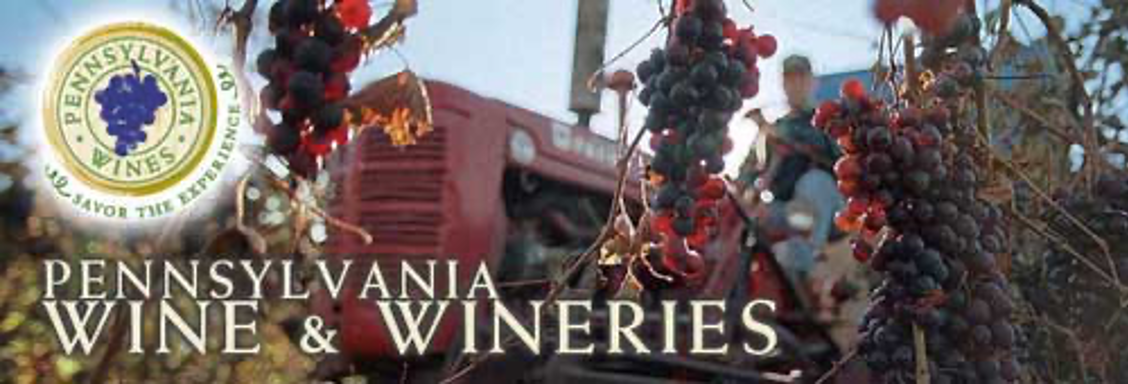 poster for Penna Wines showing grape harvesting