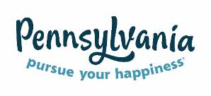 "text logo ""Pennsylvania, Pursue your happiness."""