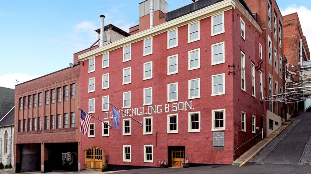Old Yuengling & Son Brewery, tall old brick building