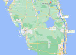 Miami to Blue Cypress Lake