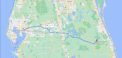 Tampa to Blue Cypress Lake