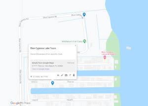map to Blue Cypress Lake Tours