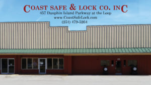 Storefront of Coast Safe & Lock at the Loop, Mobile's Locksmith