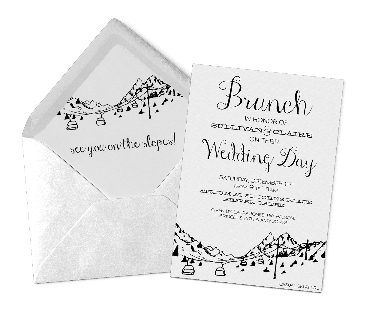 Wedding Day Brunch Invitations | Invitation Design