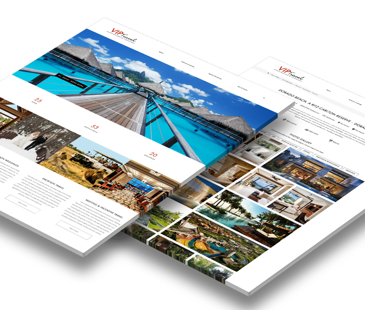 VIP Travel Web Design