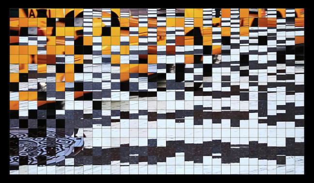"""""""acceptable reiterations of the patterns of habit"""", 2013 c-print on aluminum 24 1/2 x 42 inches ed. of 3"""