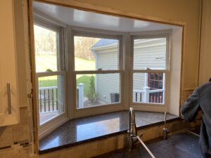 Custom bay window install