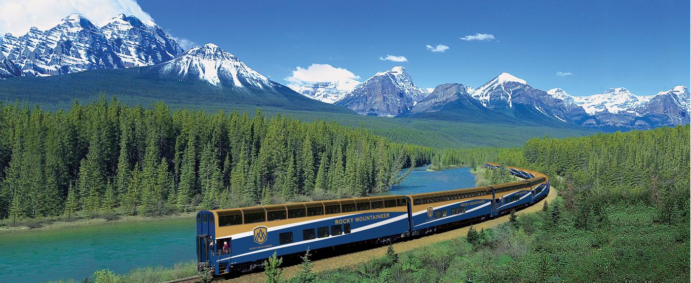 Canada - Rocky with Train