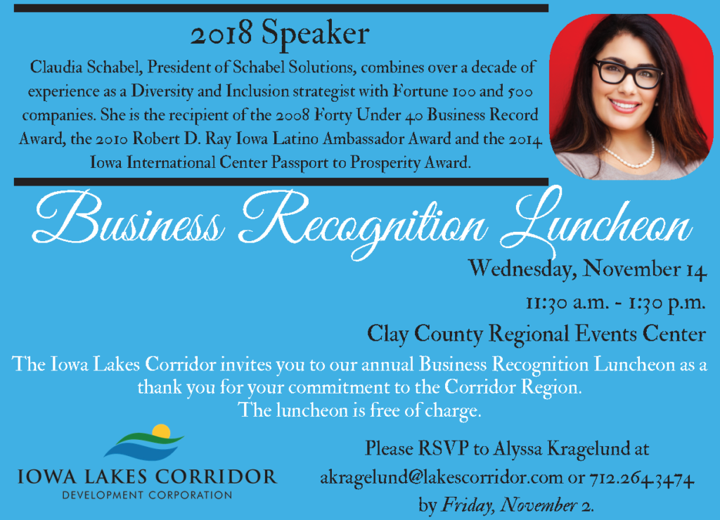Claudia Schabel Speaker at Business Recognition Luncheon