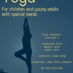 Spring 2019 Yoga Therapy Sessions for Kids and Young Adults