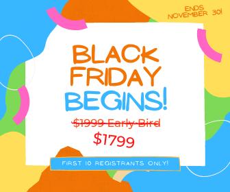 Black Friday – Cyber Monday Deal ~ Kids Yoga Teacher Training ~ 100% Online!