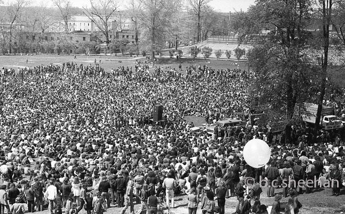 Kent, Ohio, May 4th Memorial 1974 - Crowd Scene w Jane Fonda and Daniel Ellsberg