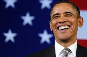 US President Barack Obama speaks during a campaign event at the Apollo Theatre in New York on 19 January 2012.