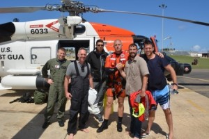 four rescued by coast guard