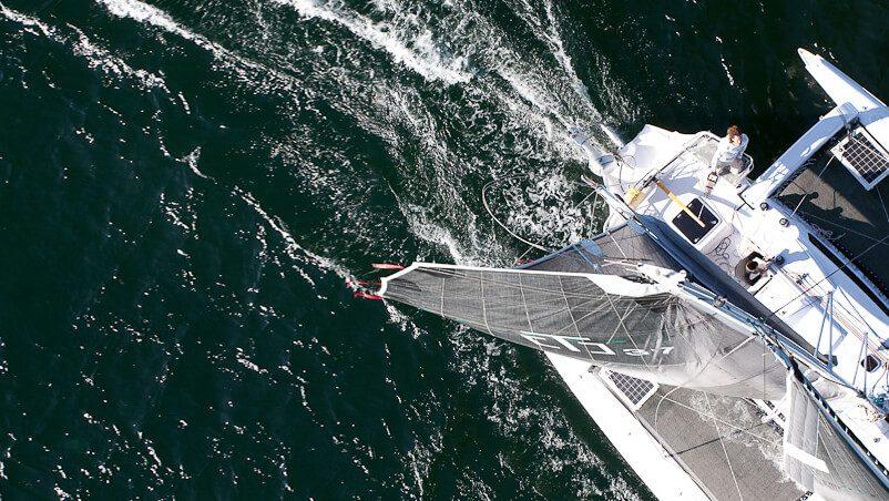 Corsair 37 Trimaran Top Down