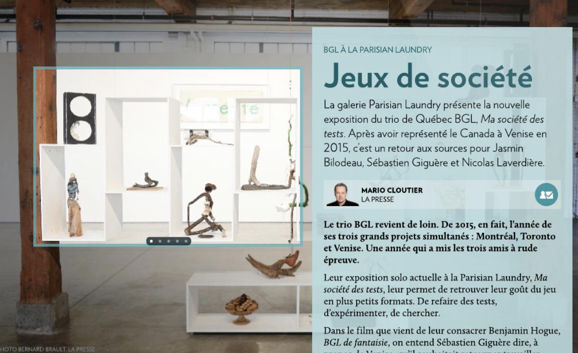 , @ BGL À LA PARISIAN LAUNDRY: JEUX DE SOCIÉTÉ
