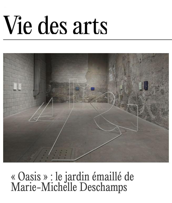 Marie-Michelle Deschamps in Vie des Arts