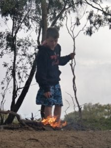 Campfire Birdcage Reserve New South Wales