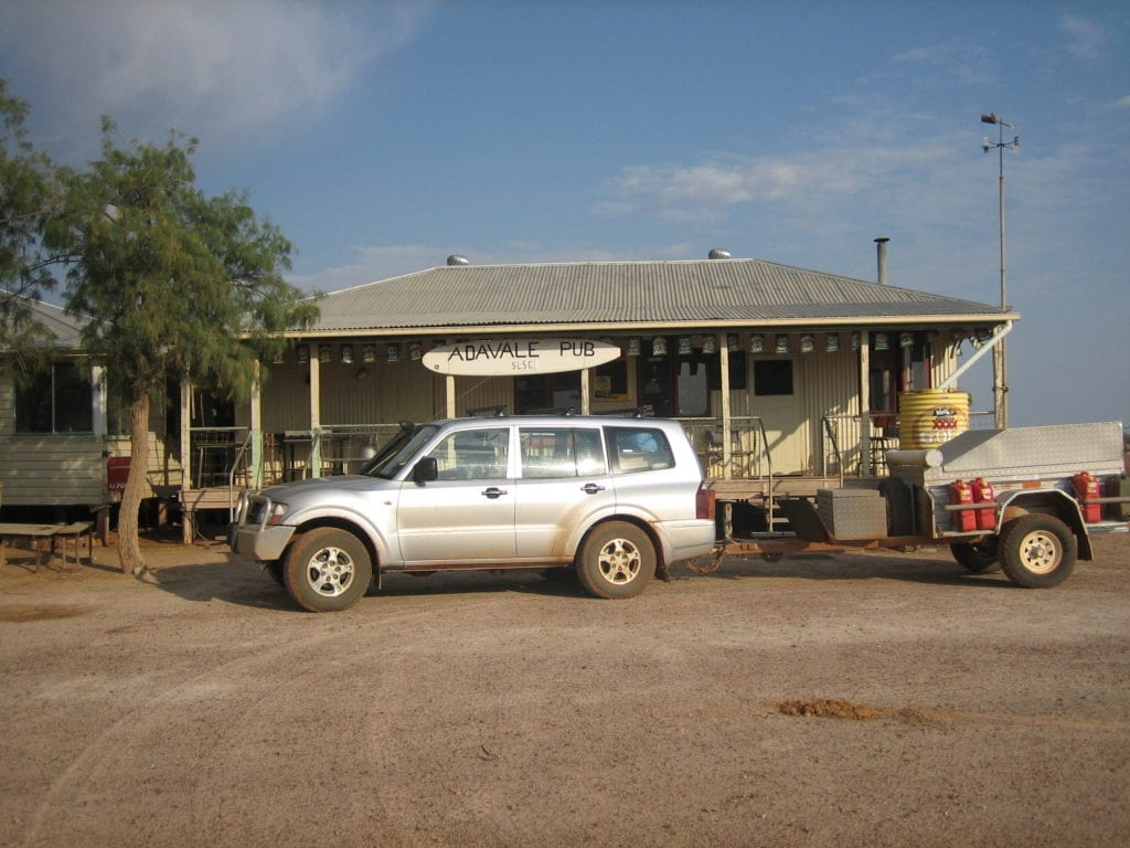 Off-Road Race Vehicle. Outside the Adavale Surf Club - South-West Queensland