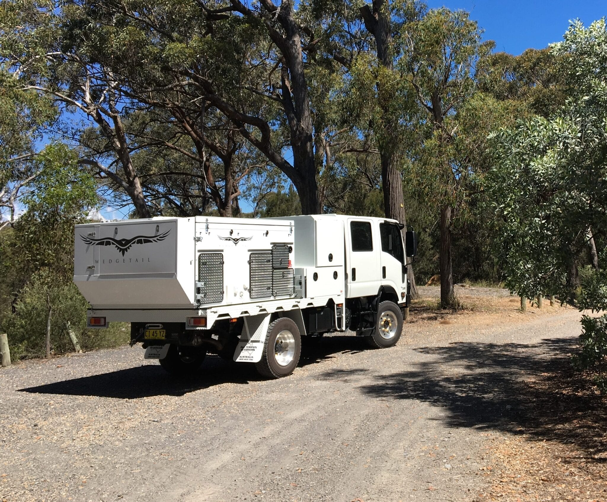 Expedition Vehicle Isuzu NPS 75-155 And Wedgetail Camper