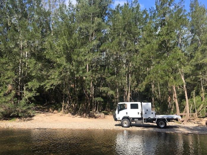 4x4 Off-Road Truck, Isuzu NPS Bendethra NSW Merricumbene Fire Trail