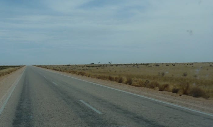 Unusual Travel Destinations - The Eyre Highway Stretches Into The Distance On The Nullarbor Plain