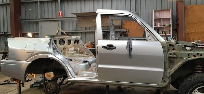 Metal Artwork On A Mitsubishi Pajero
