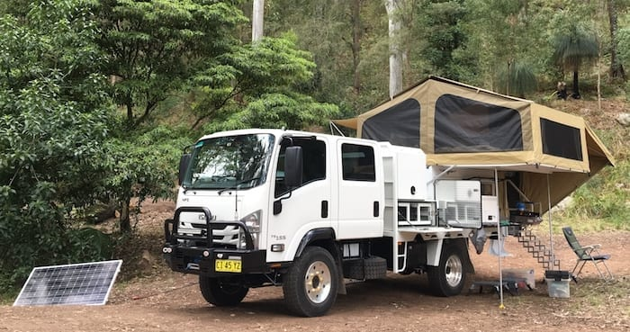 Dual Batteries Isuzu NPS And Wedgetail Camper
