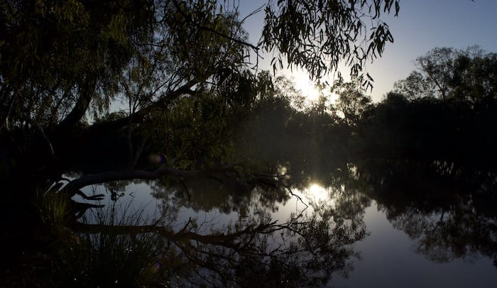Sunrise, Camping Paroo River