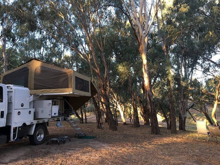 Camping On Darling River Louth NSW
