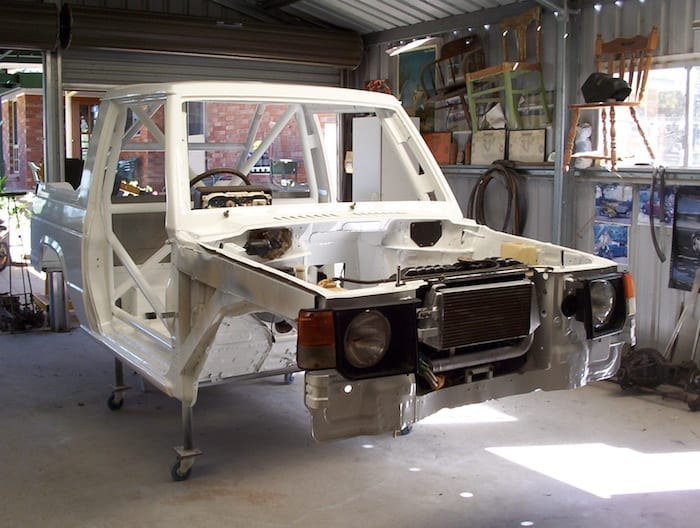 Painted Pajero Ute Front